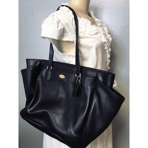 Vintage Rare Coach Large Black Tote Bag